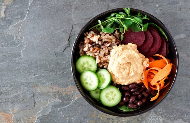 Beet and Carrot Buddha Bowl With Savory Dressing