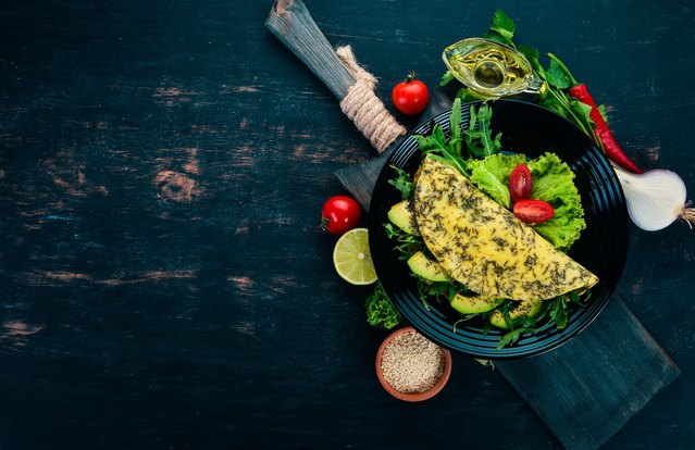 Avocado Omelet with Herbs
