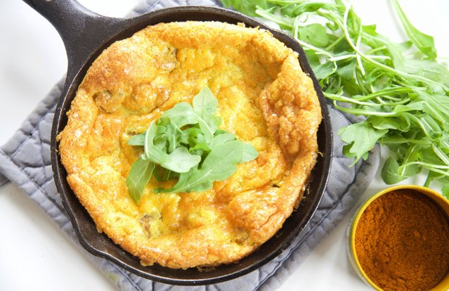 Curried Pork Frittata
