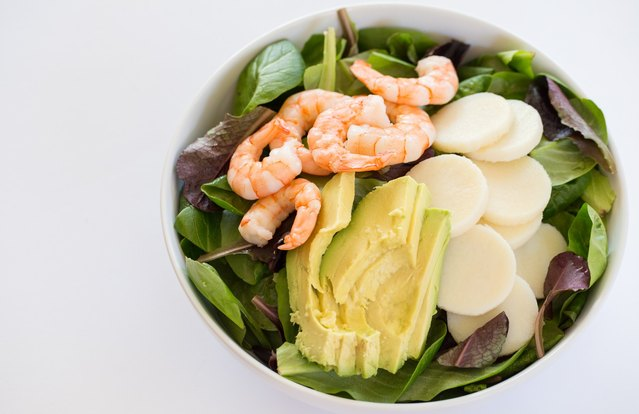 Shrimp and Avocado Lunch Salad