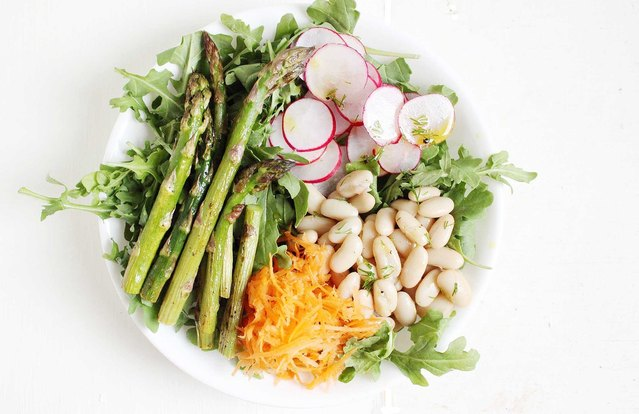 Spring Vegetable Bowls With Lemony Dill Vinaigrette