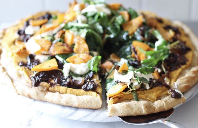 Butternut Squash, Balsamic, Fig & Goat Cheese Pizza