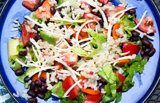 Southwest Grain Salad With Thyme Vinaigrette