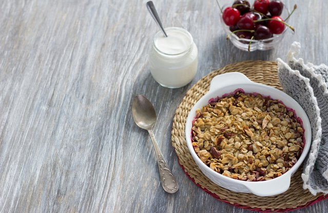 Cherry-Almond Steel-Cut Oatmeal