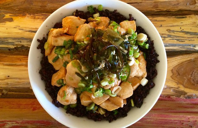 Ginger Chicken Poke