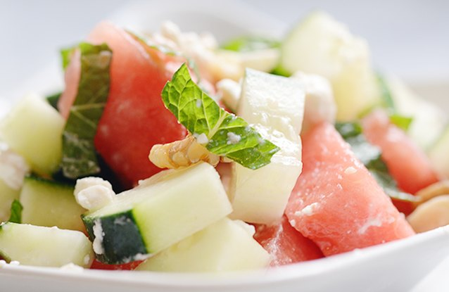 Cucumber Salad with Feta & Mint