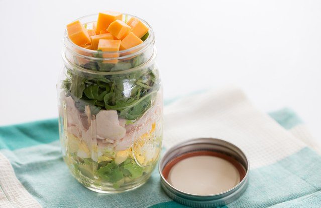 Sunrise Chef Salad in a Jar