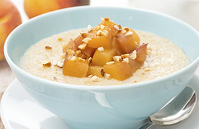 Peaches and Overnight Oats