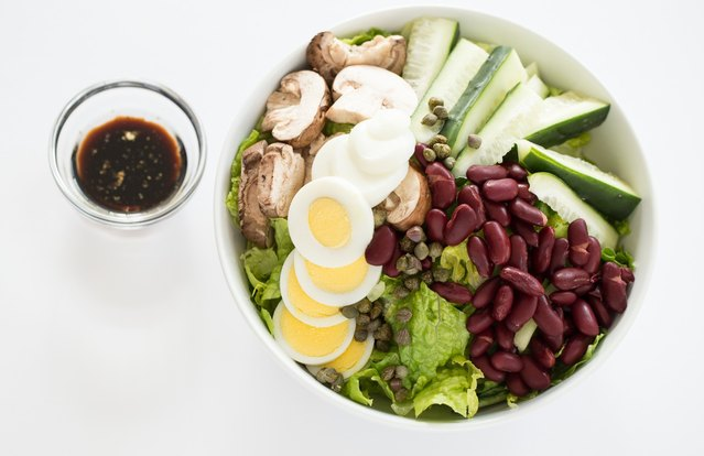 Bean and Veggie Chef's Salad