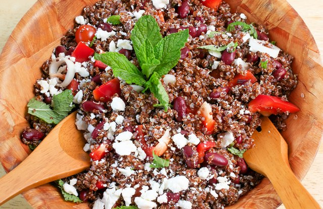 Vegan Cajun Red Beans and Quinoa