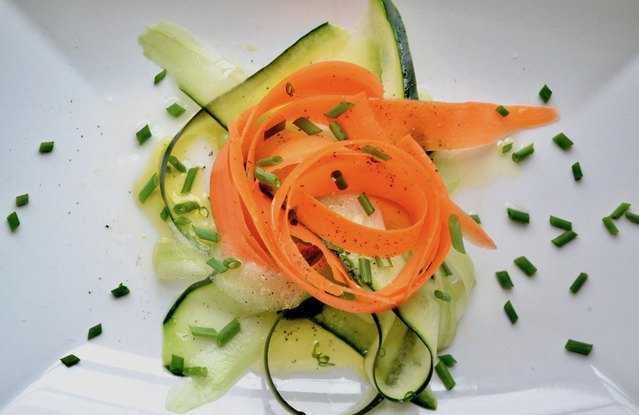Carrot and Cucumber Shaved Salad