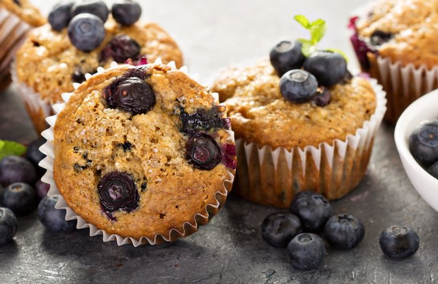 Blueberry-Banana Protein Muffins