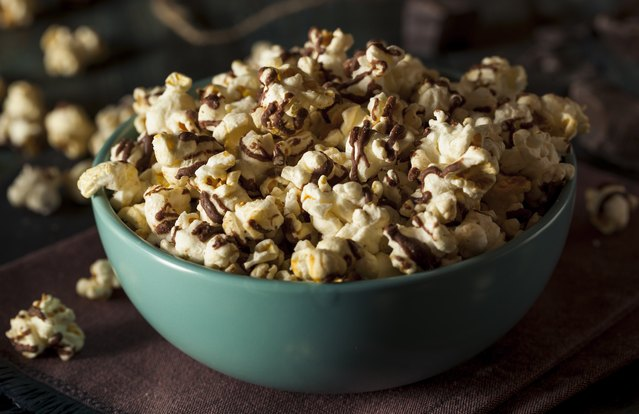 Peanut Butter and Chocolate Popcorn