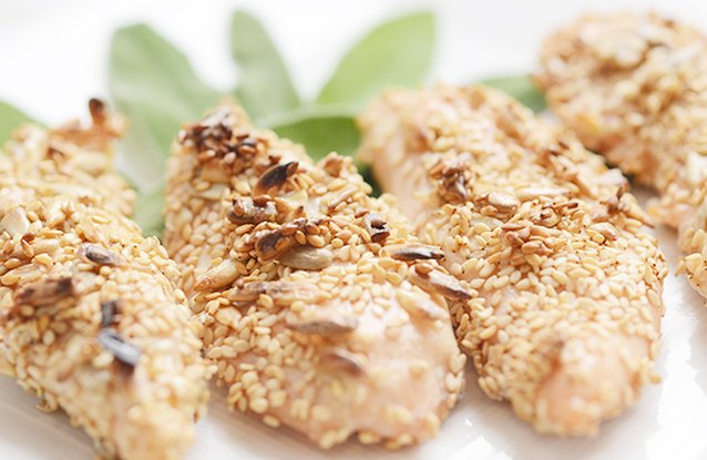 Sunflower Seed and Sage-Crusted Chicken Tenders