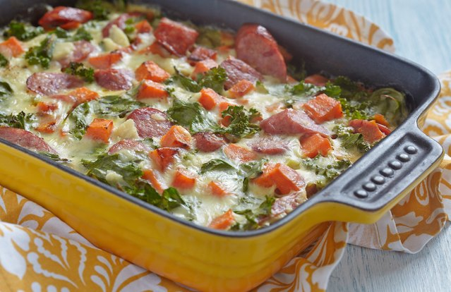 Sweet Potato and Sausage Breakfast Casserole