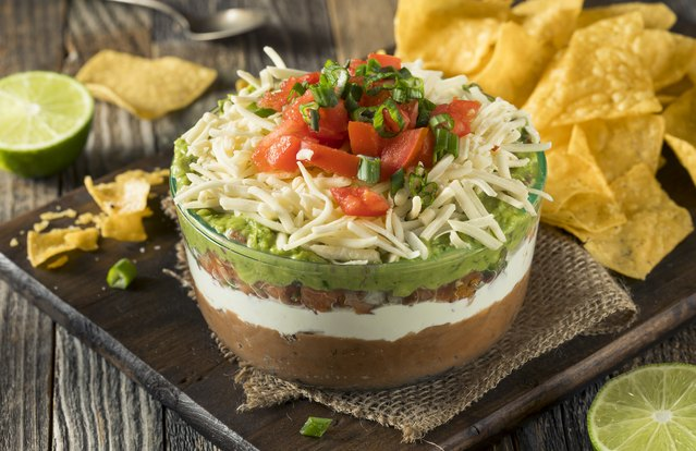 Mexican Six-Layer Dip Dish