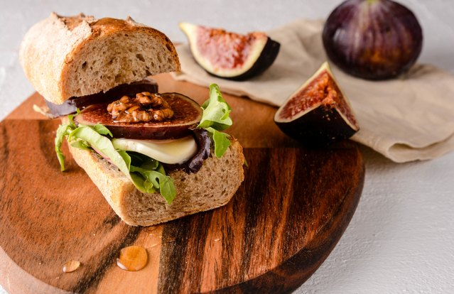 Lightened-Up Chicken and Fig Sandwich