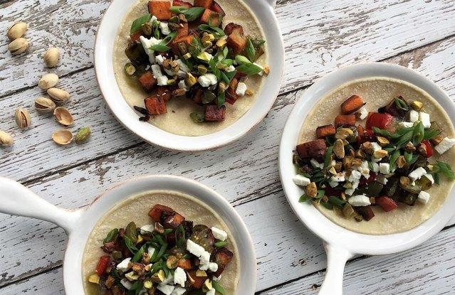 Sweet Potato Hash Tacos with Feta