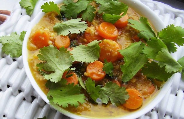 Ginger, Carrot and Herb Oatmeal