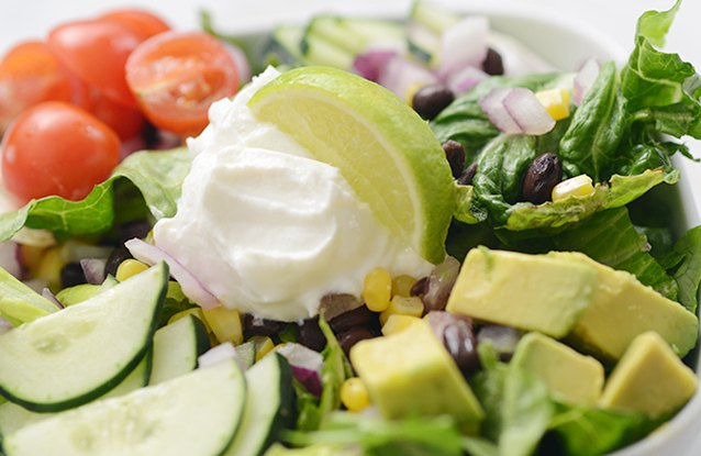Avocado and Black Bean Taco Salad