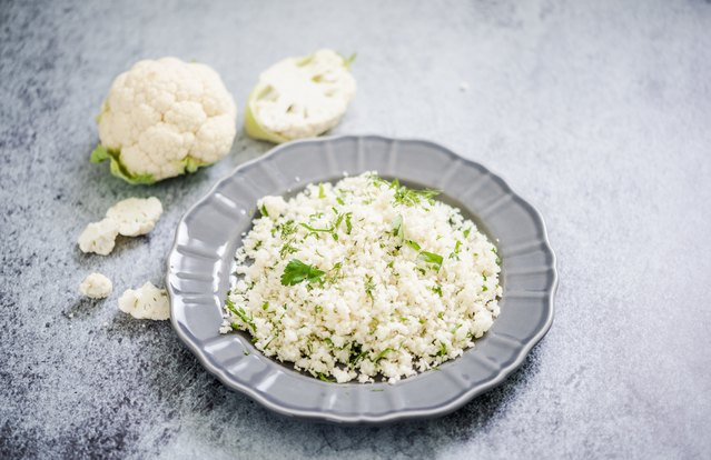 Warm Cauliflower and Olive Couscous Salad
