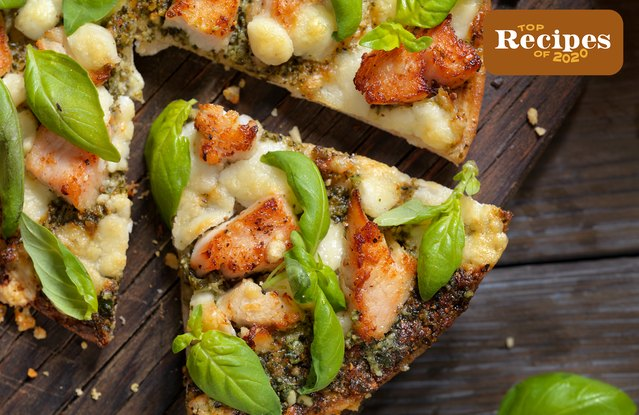 Spicy Chicken and Basil Pizza