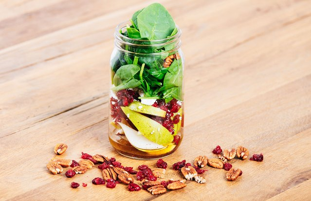 Pear and Cranberry Mason Jar Salad