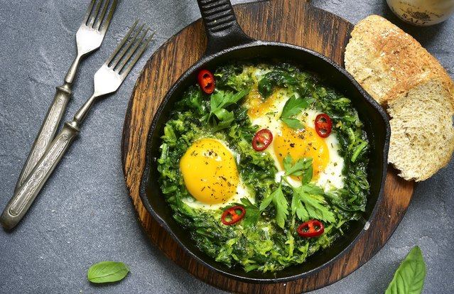 Southern-Style Green Breakfast Skillet