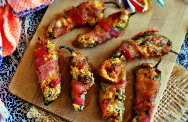 Bacon-Wrapped Stuffed Jalapeño Poppers
