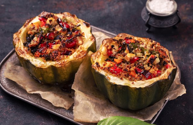 Vegetable-Stuffed Acorn Squash