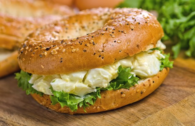 Dilly Egg Salad Stuffed Bagel