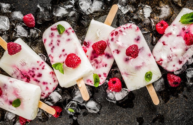 Raspberry Greek Yogurt Pops