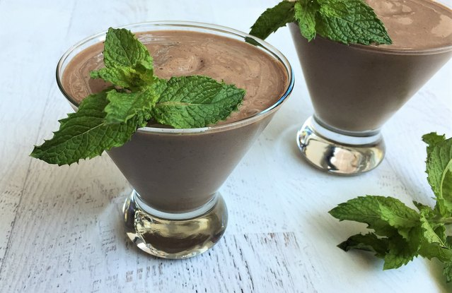 Silken Dark Chocolate Mint Smoothie