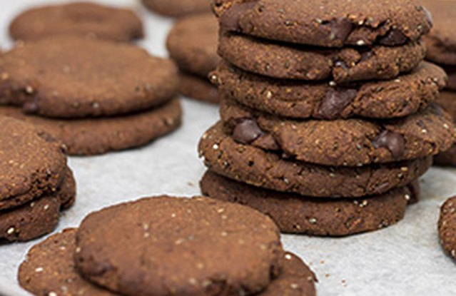 Chocolatey Chia Cookies