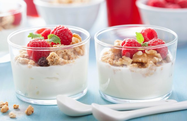 Greek Yogurt with Nuts and Berries