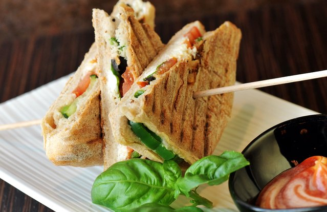 Vegetable and Goat Cheese Panini (From Leftover: Grilled Vegetables)