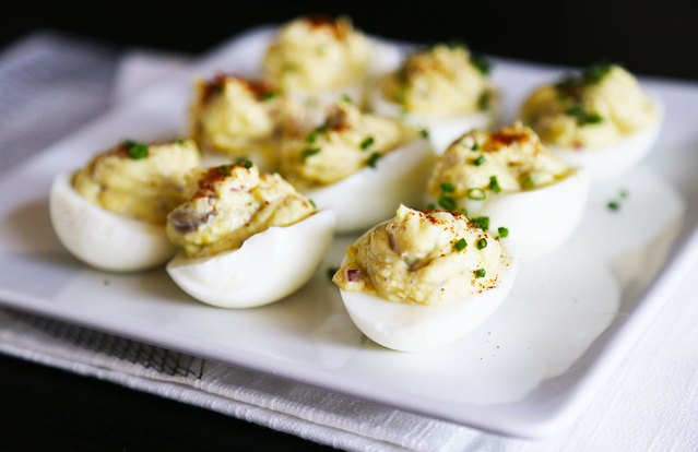 Avocado and Yogurt Deviled Eggs