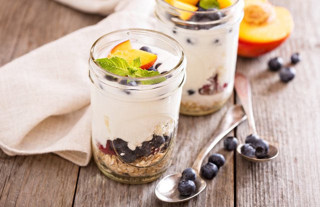 Berry and Peach Parfait