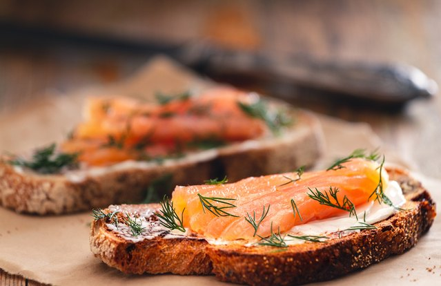 The Philly Cream Cheese Toast With Smoked Salmon