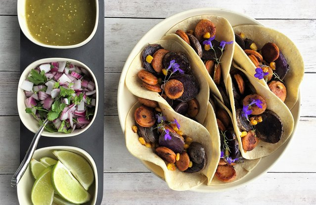 Purple Potato & Poultry Chorizo Tacos