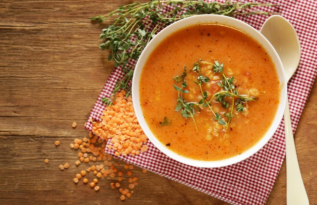 Red Lentil Soup with Lemon
