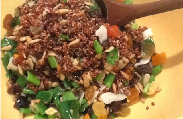 Heart-y Red Quinoa Salad with Avocado
