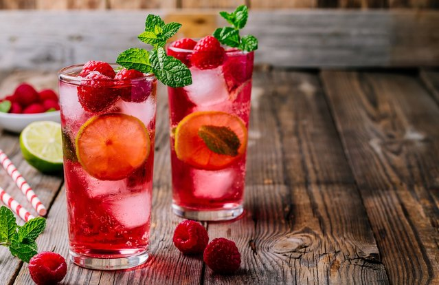 Raspberry Summer Cocktail