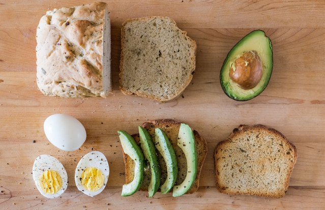 Boiled Egg and Avocado Tartine