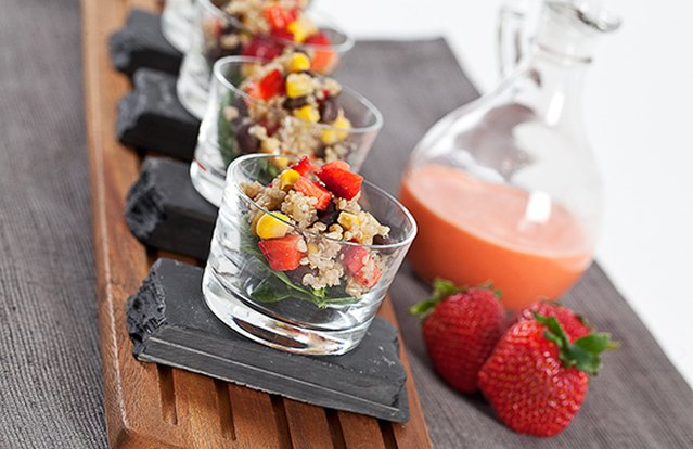 Quinoa, Black Bean and Strawberry Salad