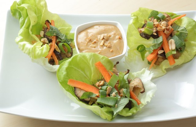 Vegetarian Thai Lettuce Wraps