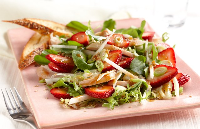 Strawberry Chicken Salad with Hoisin-Sesame Dressing