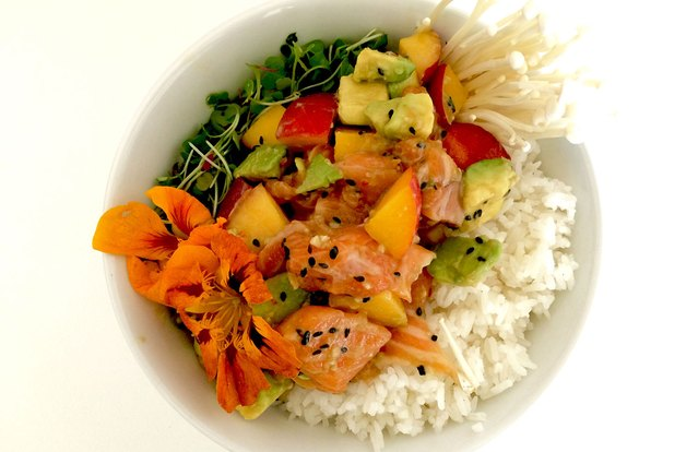 Salmon & Stone Fruit Poke
