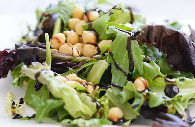 Chickpea and Pine Nut Salad