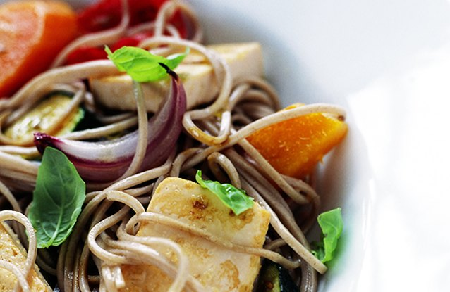 Tofu and Vegetable Soba Noodles